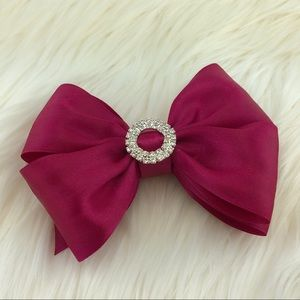 Other - Raspberry head bow with buckle rhinestone